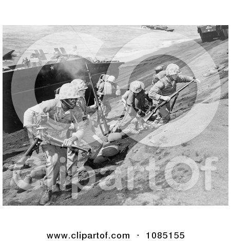 US Marines on Iwo Jima - Free Stock Photography by JVPD