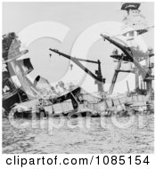 USS Arizona Attack On Pearl Harbor Free Stock Photography