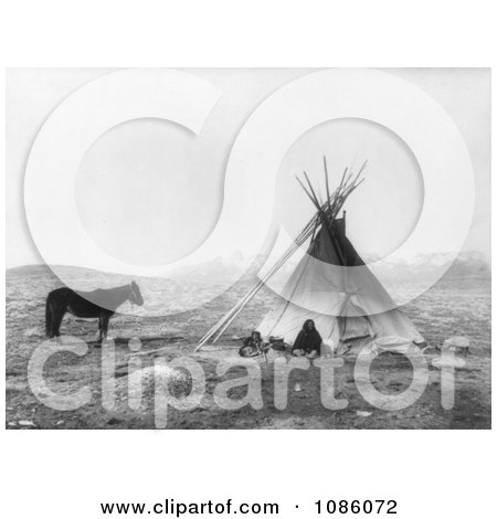 Ute Tepee - Free Historical Stock Photography by JVPD