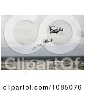 V 22 Osprey CH 53E Super Stallion Helicopter CH 46 Sea Knight Helicopter UH 1N Huey Aircraft And An AH 1 Cobra Aircraft Performing A Formation Flight Free Stock Photography by JVPD