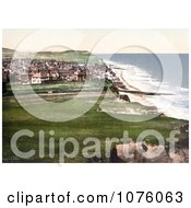 View On The Coastal Town Of Sheringham As Seen From The East Cliff In Norfolk England UK Royalty Free Stock Photography