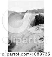 View Onto American Falls From Goat Island Niagara Falls Royalty Free Historical Stock Photography by JVPD