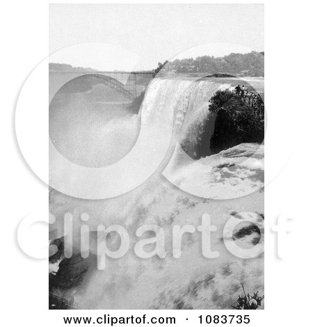 View Onto American Falls From Goat Island, Niagara Falls - Royalty Free Historical Stock Photography by JVPD