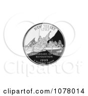Washington Crossing The Delaware On The New Jersey State Quarter Royalty Free Stock Photography by JVPD