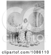 Washoe Native American Woman Sitting In A Chair Surrounded By Baskets Free Historical Stock Photography by JVPD