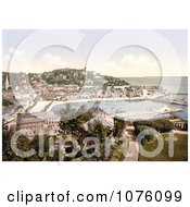 Waterfront Buildings Along The Harbour InTorquay As Seen From Waldren Hill Torbay Devon England UK Royalty Free Stock Photography