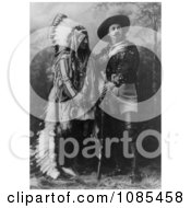 William F Cody Buffalo Bill Standing With Sitting Bull Free Historical Stock Photography