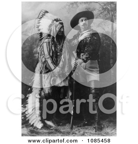 William F Cody (Buffalo Bill) Standing With Sitting Bull - Free Historical Stock Photography by JVPD