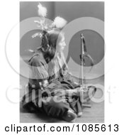 William Frog Sioux Sitting Cross Legged Free Historical Stock Photography
