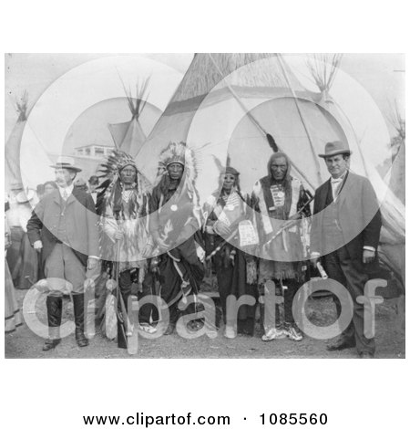 William Jennings Bryan and Sioux Chiefs - Free Historical Stock Photography by JVPD
