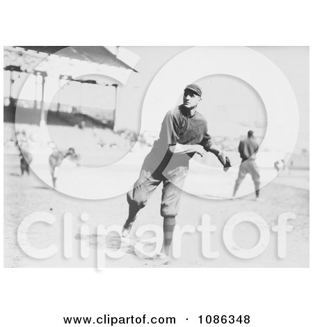William Lawrence James Throwing a Baseball - Free Historical Baseball Stock Photography by JVPD