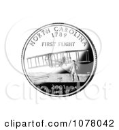 Wright Brothers And Flyer At Kitty Hawk On The North Carolina State Quarter Royalty Free Stock Photography
