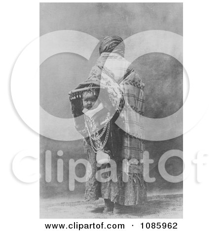 Yakima Native American Indian Mother With Baby on Her Back - Free Historical Stock Photography by JVPD